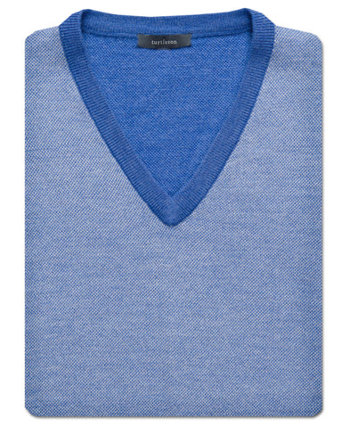 Colby Oxford-Stitch Merino Wool V-Neck Sweater Vest - turtleson