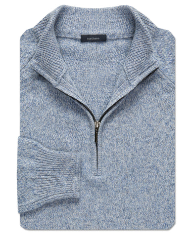 Cashmere Imperial Quarter-Zip Sweater - turtleson