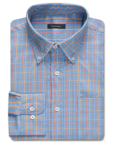 Draper Windowpane Performance Twill Sport Shirt - turtleson