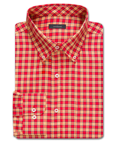 Fitton Plaid Twill Sport Shirt - turtleson