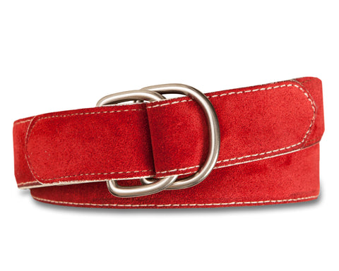 Suede D-Ring Belt with Self Tab - turtleson