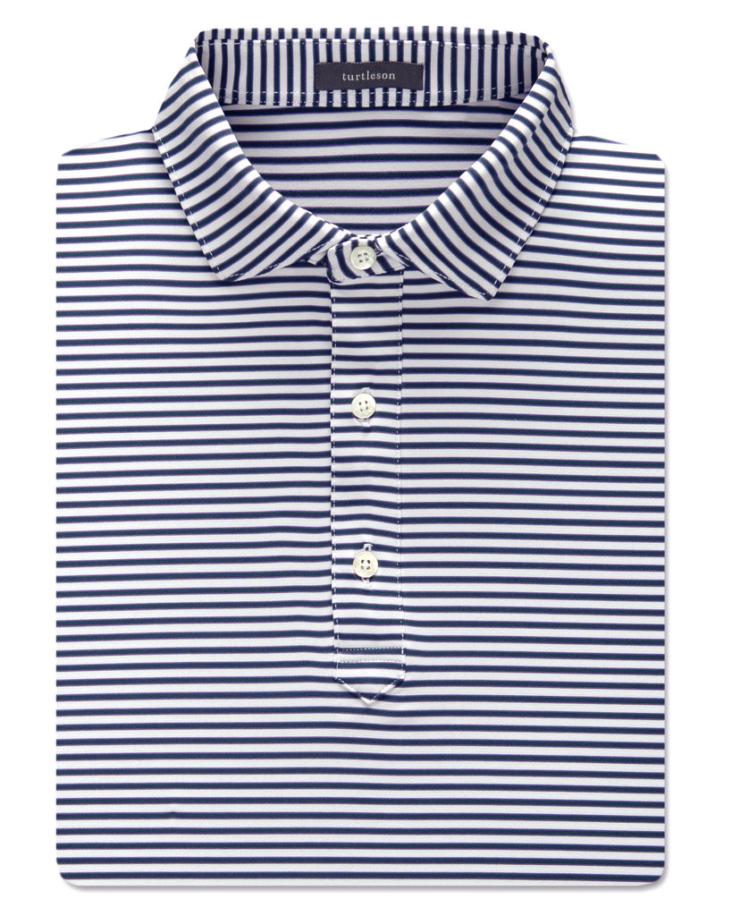 Henry Stripe Performance Polo