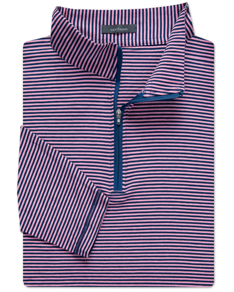 7-Iron Stripe Clubhouse-Cotton Quarter Zip Pullover