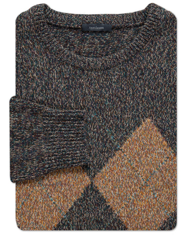 Argyle Merino Twill Crewneck Sweater