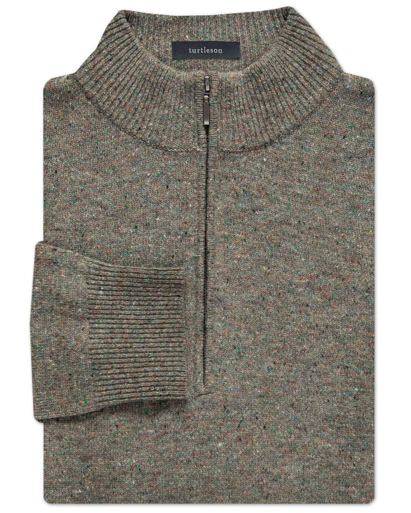 Donegal Wool Quarter-Zip Sweater