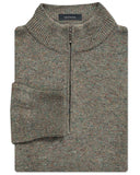 Donegal Wool-Cashmere Quarter-Zip Sweater