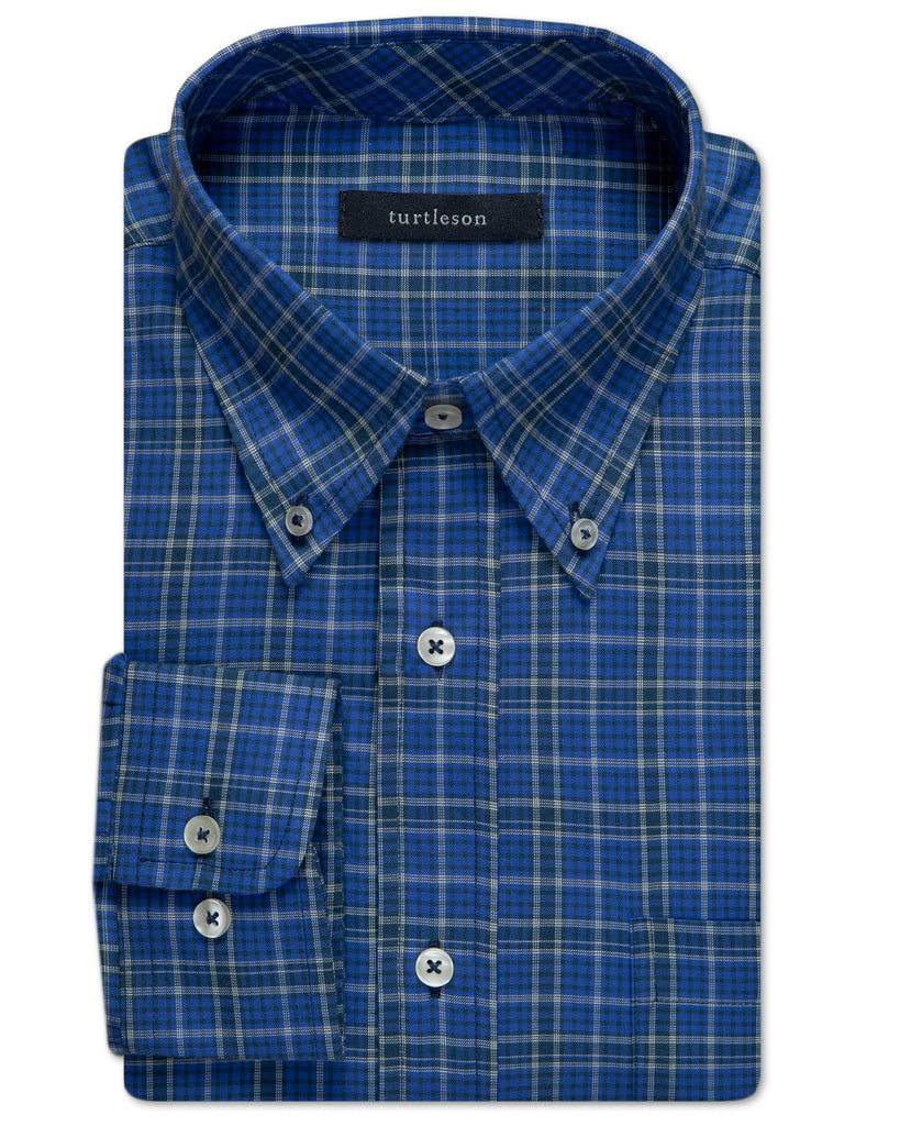 Graham Brushed Twill Plaid Sport Shirt