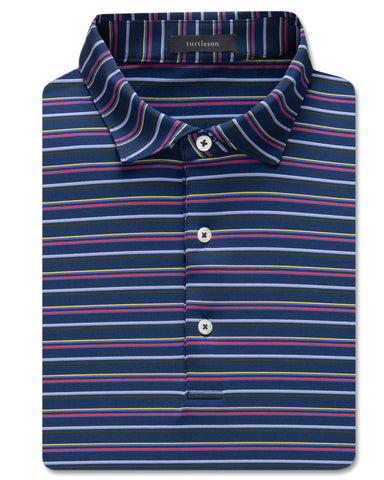 George Multi-Stripe Performance Polo