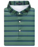 Edison Houndstooth Stripe Performance Polo