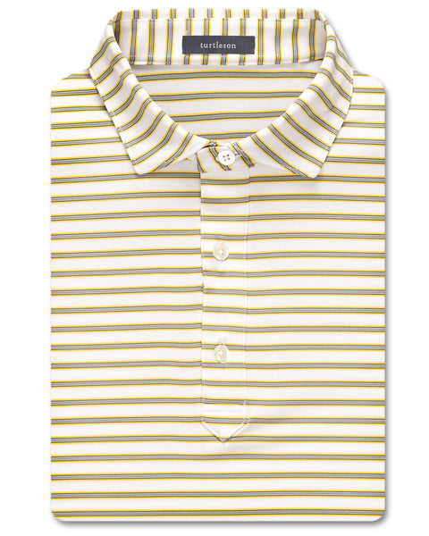 Aaron Multi-Stripe Performance Polo