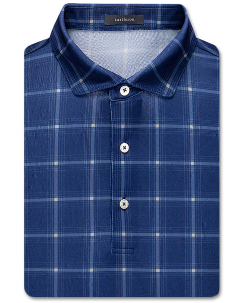 Davis Plaid Pique Performance Polo