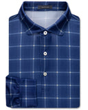 Davis Plaid Pique Performance Polo, Long Sleeve