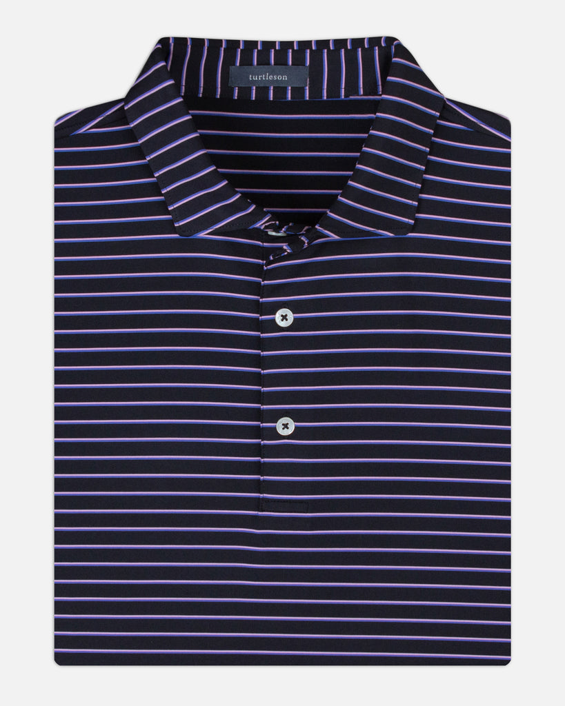 Liam Stripe Performance Polo