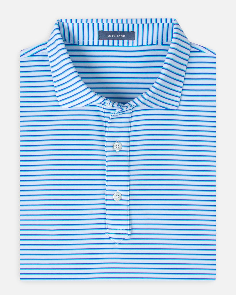 Alexander Stripe Performance Polo