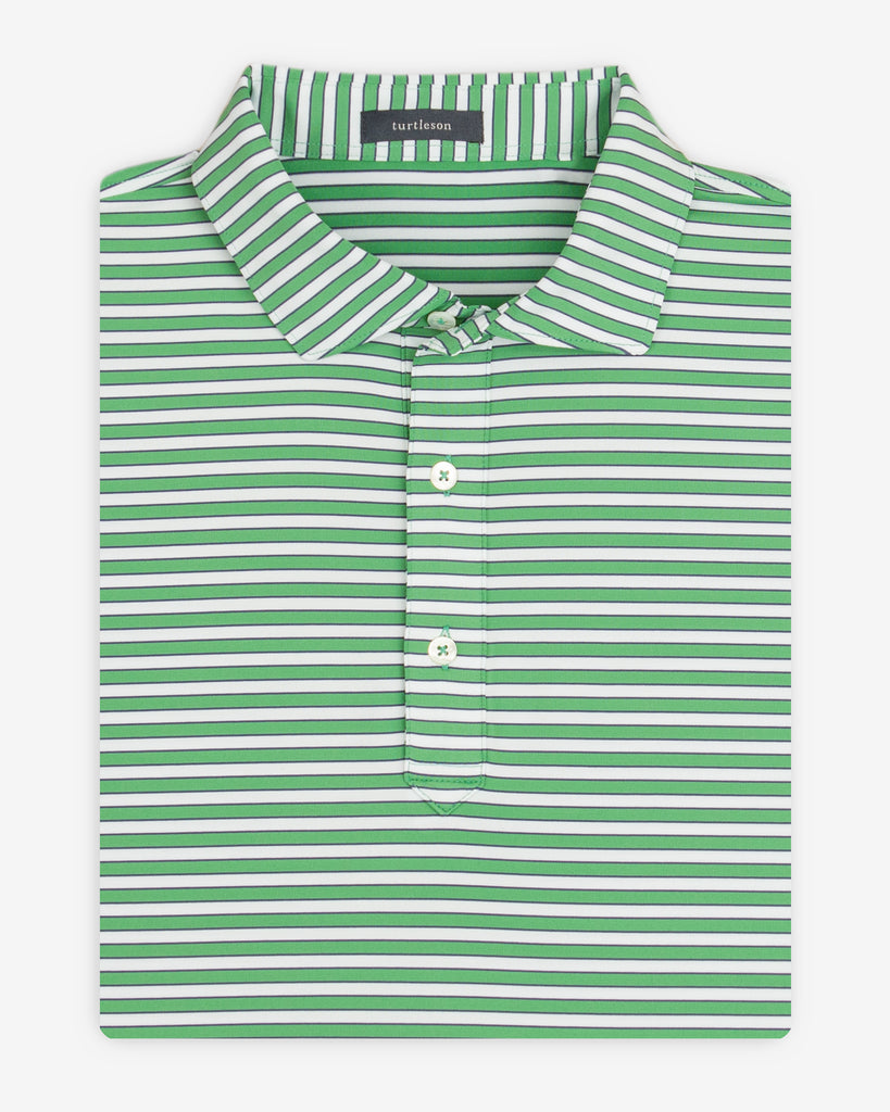 Lucas Stripe Performance Polo