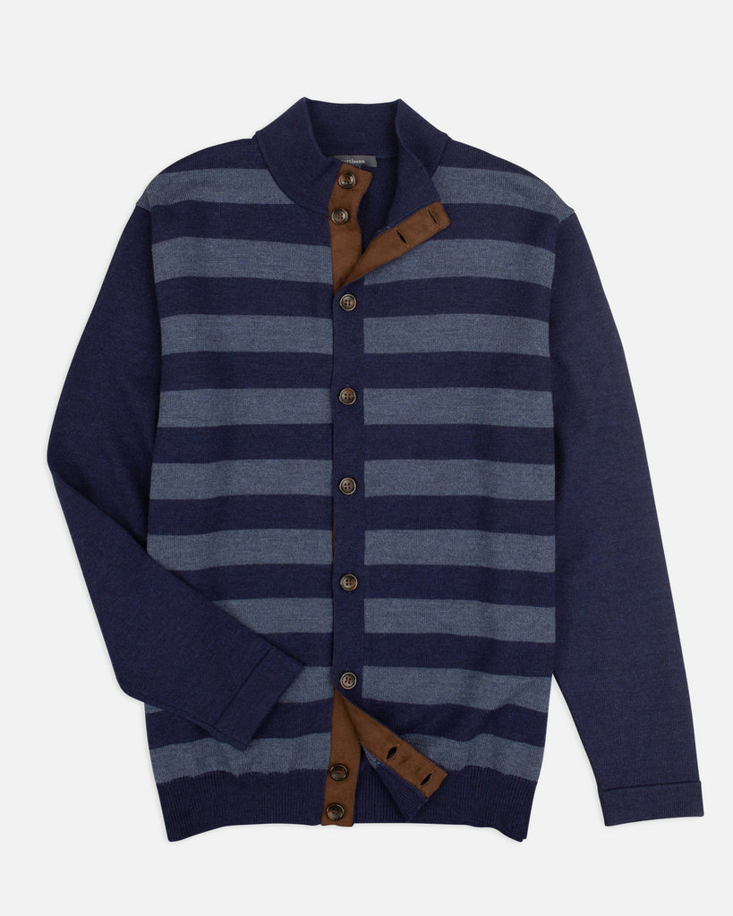 Spike Rugby Stripe Cardigan Sweater