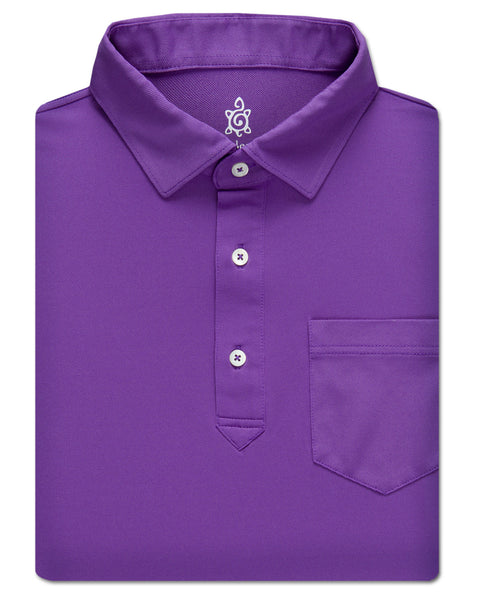 Pique Solid Performance Polo - turtleson