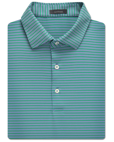 Christopher Stripe Performance Polo - turtleson