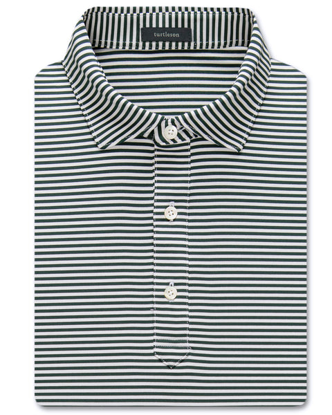 Classic Stripe Performance Polo