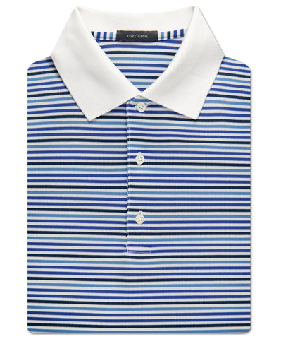 Multi-Even Stripe Pique Performance Polo - turtleson