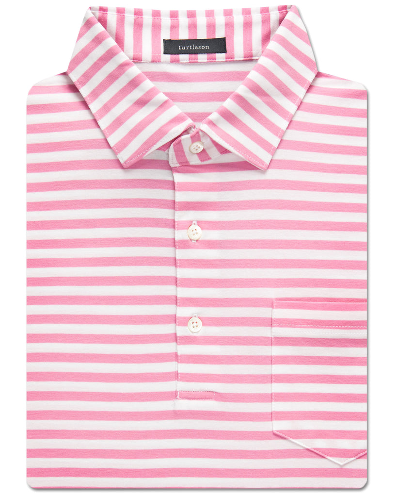 Taylor Stripe Clubhouse-Cotton Polo - turtleson