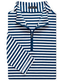 Taylor Stripe Clubhouse-Cotton Quarter-Zip Pullover