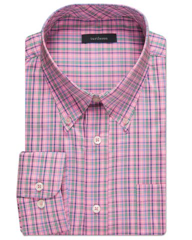 Barnaby Plaid Performance Sport Shirt - turtleson