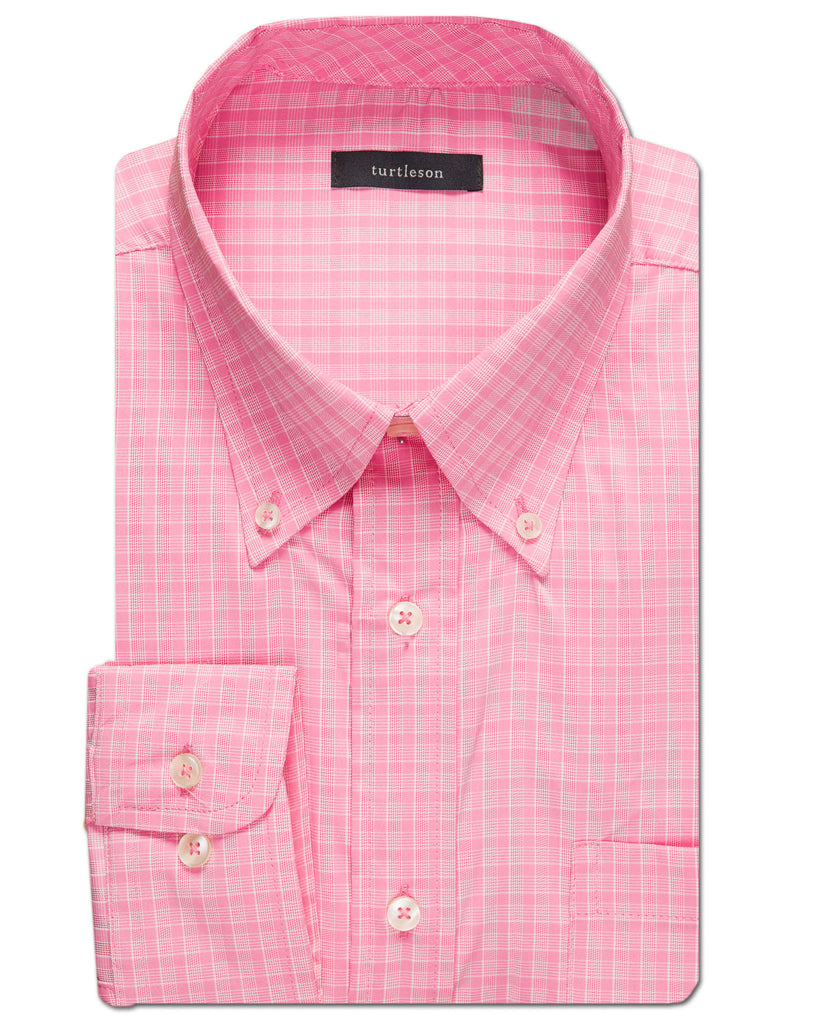 Lombard Windowpane Performance Sport Shirt - turtleson