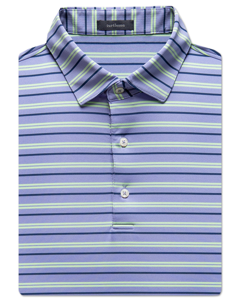 Lyda Stripe Performance Polo