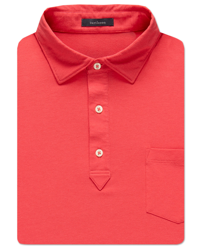 Randy Solid Pima-Blend Polo
