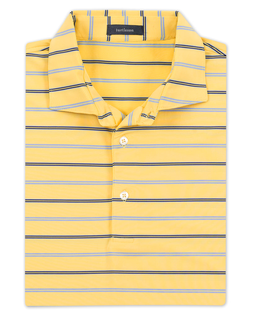Edmund Stripe Performance Polo