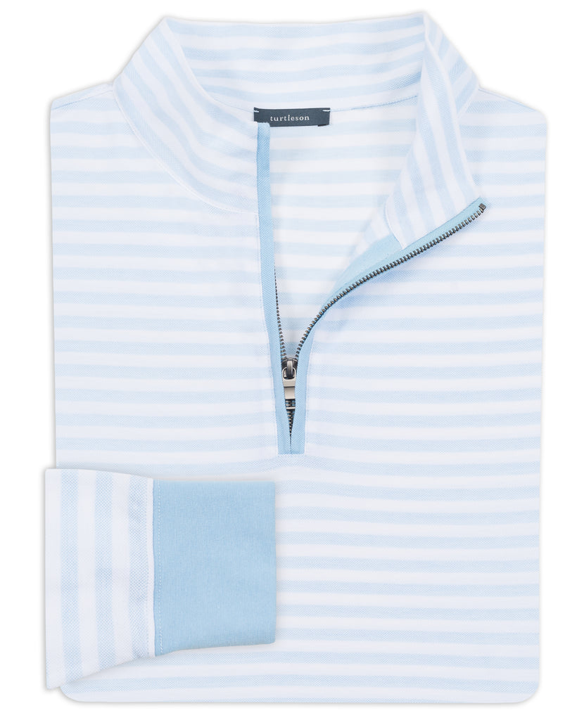 Royal Oxford Parker Stripe Quarter-Zip Pullover