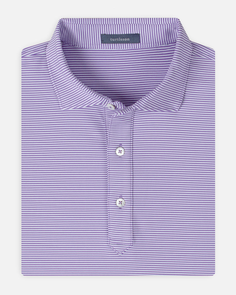 Carter Stripe Performance Polo