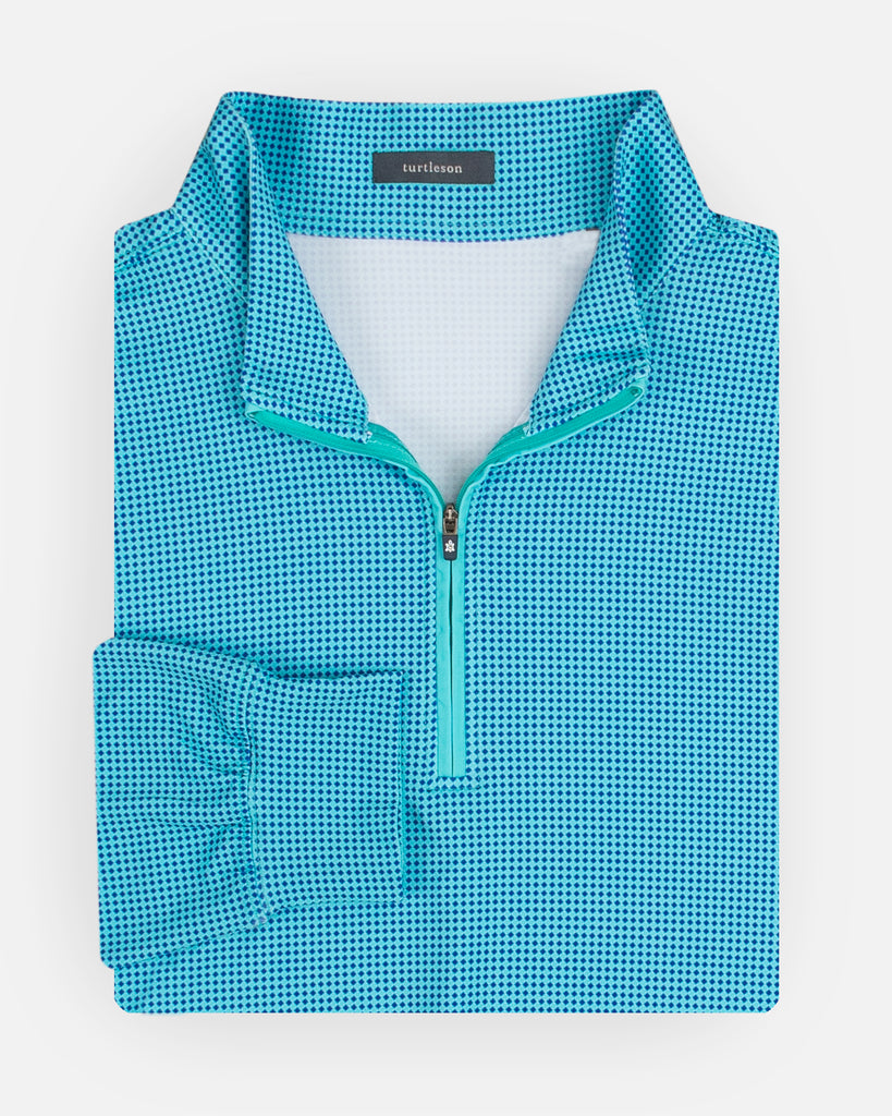 Kings Houndstooth Quarter-Zip Pullover
