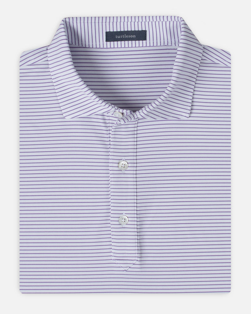 King Stripe Performance Polo