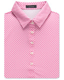Women's Diagonal Gingham Performance Polo - turtleson