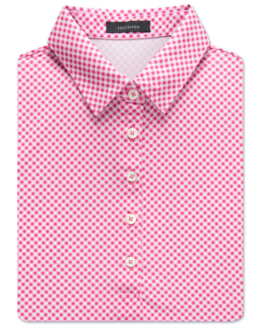 Women's Diagonal Gingham Performance Polo