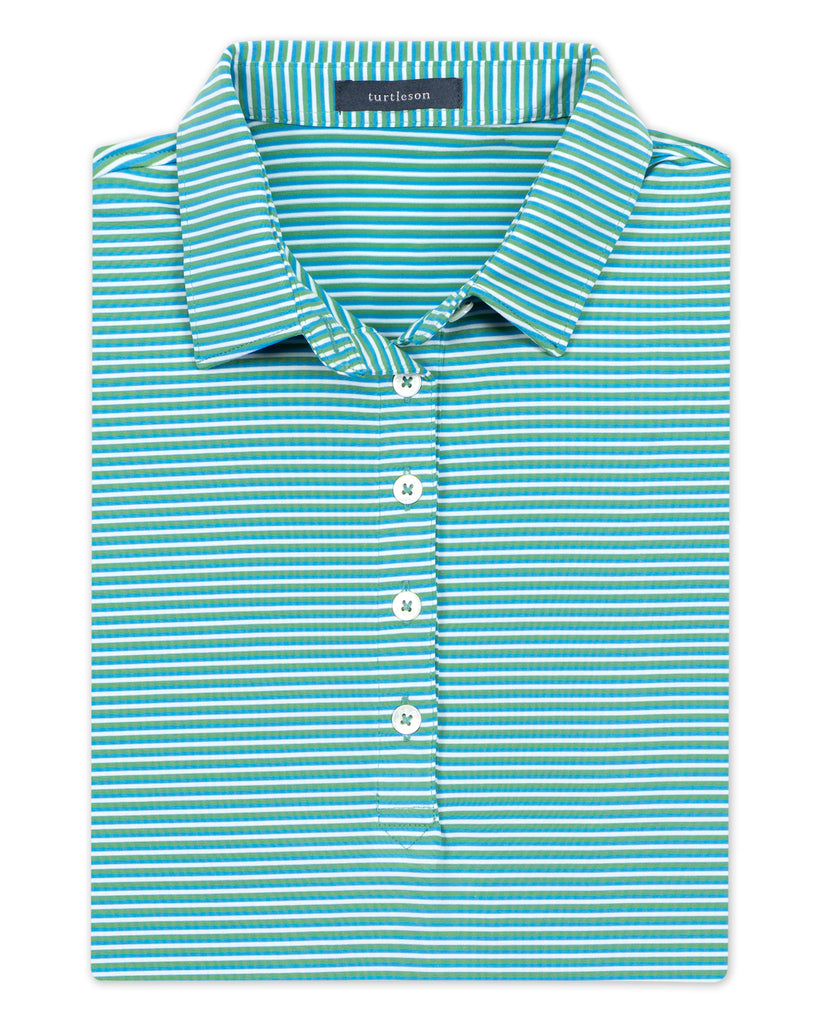 Women's Conner Stripe Performance Polo