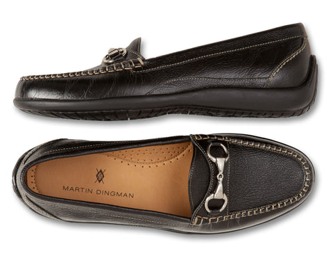 Saxon Solid Horse Bit Loafer - turtleson