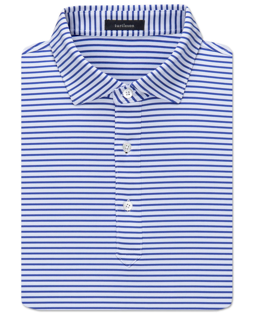 Jeff Stripe Performance Polo