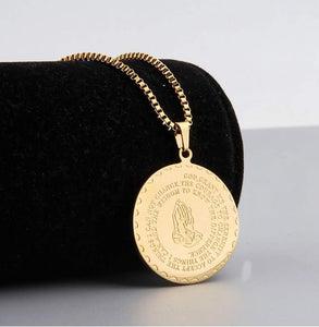 Gold Serenity Prayer Necklace