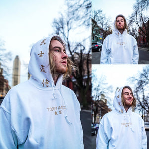 TOKYO HOODIE - WHITE/GOLD
