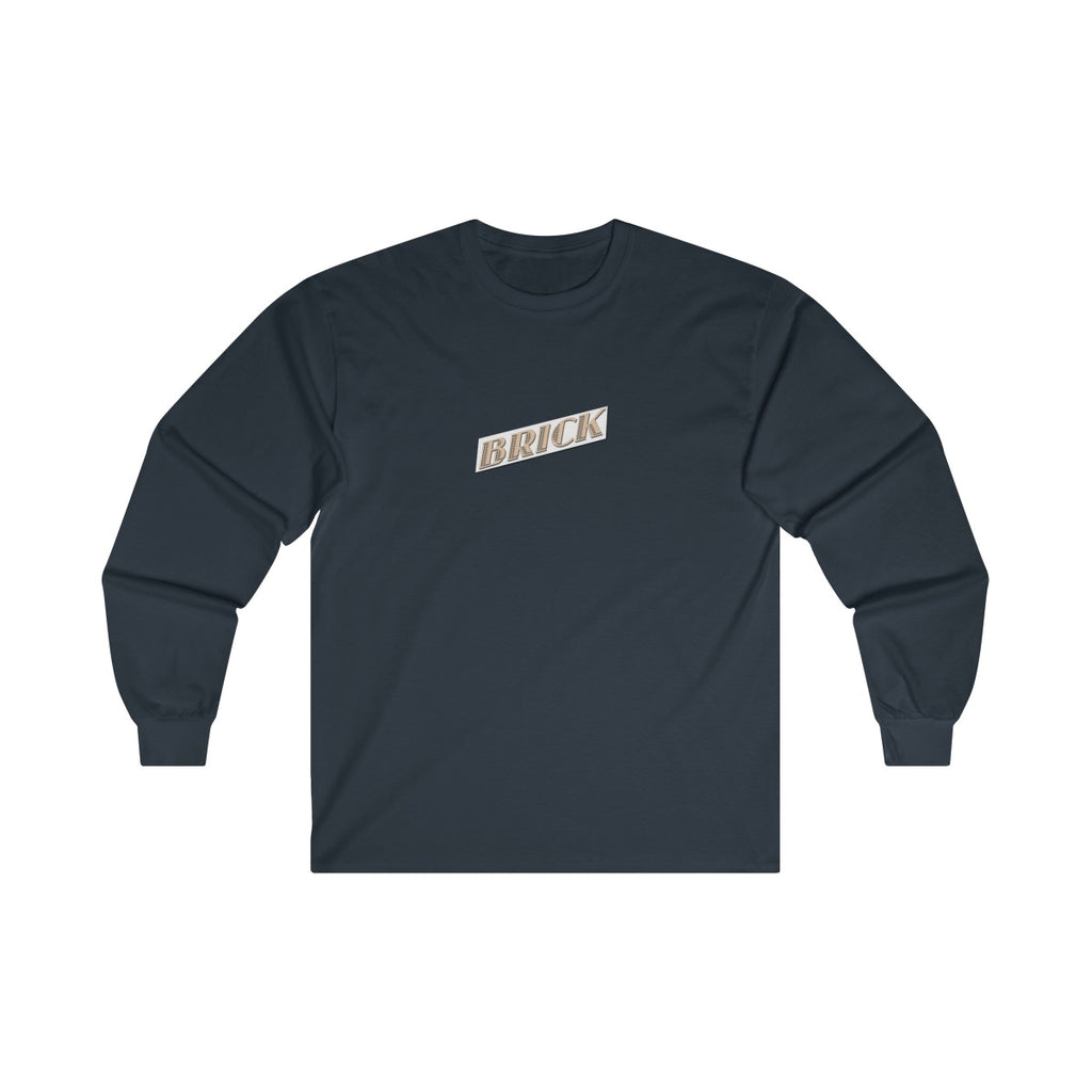 Navy Tangerine Brick Long Sleeve - Bricklandco