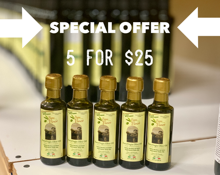 SPECIAL OFFER: 5 FOR $25