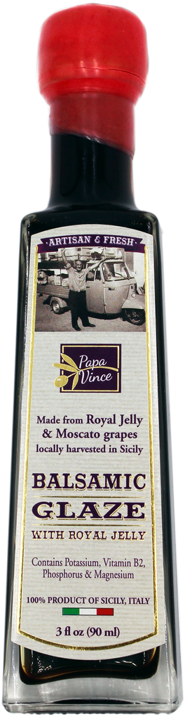 Balsamic Vinegar Glaze with Royal Jelly - NUTRITIOUS sweetener | 3 fl oz