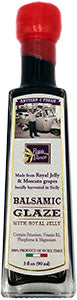 TA07 - ROYAL QUEEN OF SICILY - Balsamic Vinegar Glaze with Royal Jelly - NO SUGAR ADDED | NUTRITIOUS packed with Vitamins & Minerals | HEALTHY sweetener & topping for cereal, berries, veggies | NO COLORING, NO THICKENER | 3 fl oz