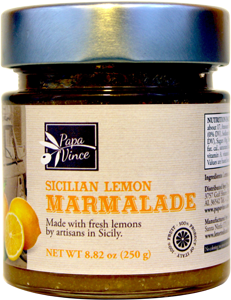 Lemon Marmalade Preserve Family Made with locally grown lemons in Sicily, Italy - NO ARTIFICIAL FLAVORING | NO PRESERVATIVES | NO COLORING | NO CONCENTRATES | 8.82 oz - 3Pack