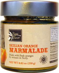 Orange Marmalade Preserve Family Made with locally grown oranges in Sicily, Italy - NO ARTIFICIAL FLAVORING | NO PRESERVATIVES | NO COLORING | NO CONCENTRATES | 8.82 oz -3Pack