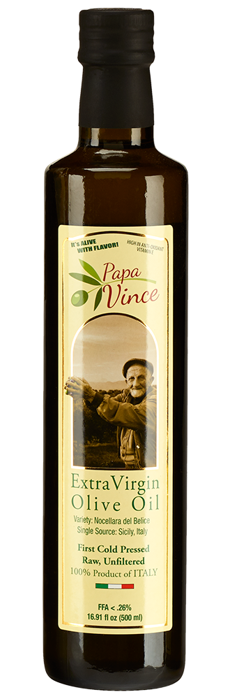 PARIS -  Papa Vince Olive Oil Extra Virgin - 2018/19, 16.9 fl OZ