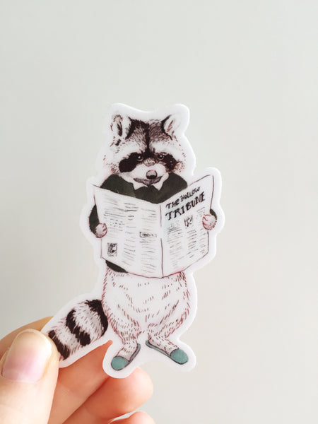Tribune Raccoon Sticker
